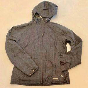 MERRELL Lined Hooded Gray Rain Jacket Windbreaker